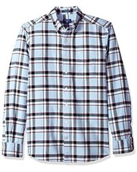 GANT - Brushed Oxford Plaid Shirt - Lyst