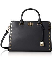 0ca2265f93fd Michael Kors Sylvie Stud Md Messenger Bag Denim in Blue - Lyst