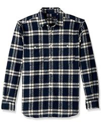 French Connection - Yarn Dyed Twill Overcheck Button Down Shirt - Lyst