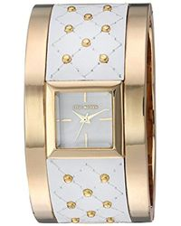 Steve Madden - Quartz Gold And Alloy Casual Watch, Color:two Tone (model: Smw006g-wt) - Lyst