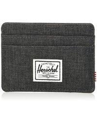 Herschel Supply Co. - Unisex-adults Charlie Rfid Wallet, Black Crosshatch, One Size - Lyst