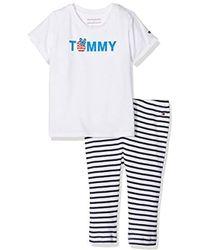 Tommy Hilfiger - Charming Logo 2piece Giftbox, Conjunto Bebé-Niños, Blanco (Bright White 123), 74 - Lyst