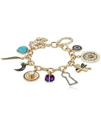 Betsey Johnson - S Mixed Multi Charm Bracelet - Lyst