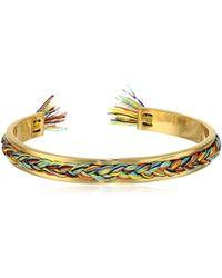 Rebecca Minkoff - S Braided Cuff Bracelet - Lyst