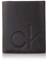 Calvin Klein UOMO Portafoglio Mini con Logo Nero Mod. K504844 - Negro