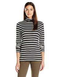 G.H. Bass & Co. - Striped Turtle Neck Knit - Lyst