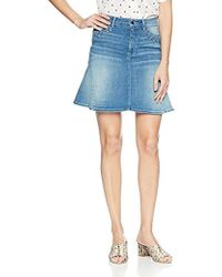 Guess - Lace Up Flared Skirt - Lyst
