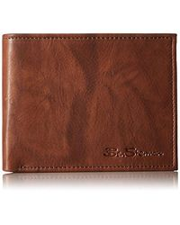 Ben Sherman - Manchester Full Grain Cowhide Marble Crunch Leather Passcase Wallet With Flip Up Id Window With Rfid - Lyst