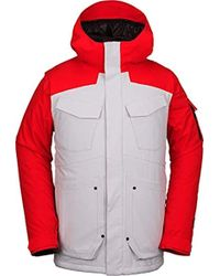 Volcom Vco Inferno Insulated 2 Layer Stretch Snow Jacket - Red