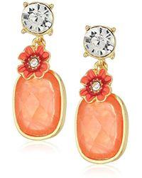 Napier - Coral Double Post Drop Earrings - Lyst