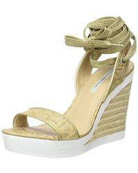 Calvin Klein - Eleanor Metallic Jacq./nappa Smooth Closed Toe Heels - Lyst