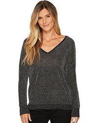 NYDJ - Lurex Double V-neck Sweater - Lyst
