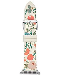 Kate Spade - 25mm Apple Watch Band, Floral Silicone, Kss0012 - Lyst