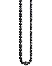 Thomas Sabo - Donna-Collana Power Necklace Nero Glam & Soul Argento Sterling 925 KE1674-704-11-L102 - Lyst