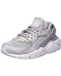 9448ca0472e5 Nike Air Huarache Run W Women s Shoes (trainers) In Grey in Gray - Lyst