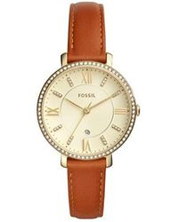 Fossil - Women's Jacqueline Crystal Embellished Leather Strap Watch - Lyst