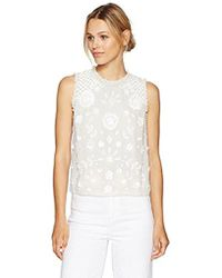 French Connection - Dalia Sheer Top - Lyst