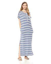 Pendleton - Stripe Henley Maxi Dress - Lyst