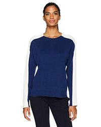 Lacoste - Colorblock Double Face Jacquard Cotton/wool Sweater - Lyst