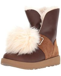 fe26edbb4d6 Lyst - UGG  renatta  Waterproof Wedge Bootie in Brown