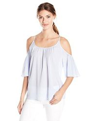 French Connection - Polly Plains Cold Shoulder Top - Lyst