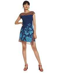 Desigual Vest_reset Dress - Blue