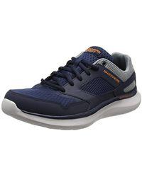 Skechers Quantum Flex-Hudzick, Zapatillas de Entrenamiento para Hombre - Azul