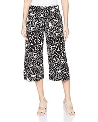 Three Dots - Palm Print Cropped Loose Pant - Lyst