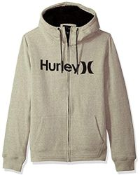 Hurley - Long Sleeve Sherpa Lined Zip Up Hoodie - Lyst