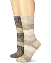 Columbia Micropoly Striped 2 Pack Crew - Natural
