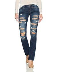 True Religion - Billie Mid Rise Staight Leg Jean - Lyst