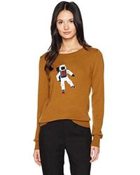 Lacoste - Interlock Sweater With Big Cosmo Logo Embroided - Lyst