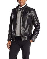 Andrew Marc - Lamb-leather Moto Jacket - Lyst