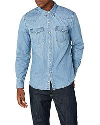 f70f4fab4a8 Levi s Red Cast Stone Barstow Western Shirt in Blue for Men - Lyst