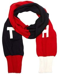 Tommy Hilfiger - Th Denim Knit Scarf Scarf, Multicoloured (corporate Clrs), One Size(manufacturer Size:os) - Lyst