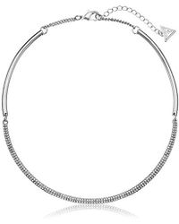 Guess - S Hinged Collar Necklace - Lyst
