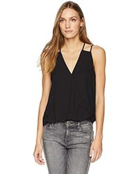 Cooper & Ella - Crepe Carly Strappy Detail Wrap Tank - Lyst