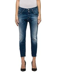 Replay - Pilar Ankle Zip Boyfriend Jeans - Lyst