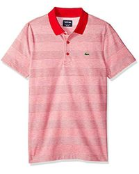 Lacoste - Short Sleeve Jersey Caviar Textured Print With Jacquard Collar Polo, Dh3388 - Lyst