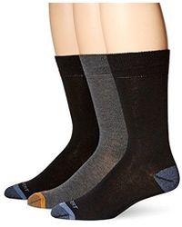 Rockport - Basic Flat Knit Crew Sock, Black/charcoal/black Assorted, Sock Size:10-13/shoe Size: 6-12 - Lyst