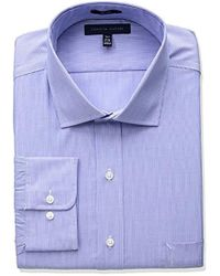 Tommy Hilfiger - Big And Tall Non Iron Tall Fit Stripe Spread Collar Dress Shirt - Lyst
