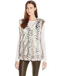 Buffalo David Bitton - Jackie Faux-fur Leopard Animal-print Vest - Lyst
