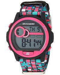 Skechers - Dixon Digital Plastic And Nylon Chronograph Watch, Color Black, Multi (model: Sr6103) - Lyst