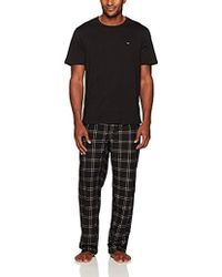 Tommy Hilfiger - Cozy Fleece Pajama Pant And T-shirt Set - Lyst