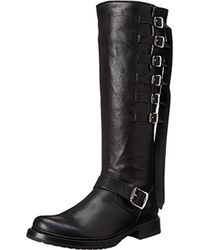 Frye - Veronica Strap Tall-tufg Engineer Boot - Lyst