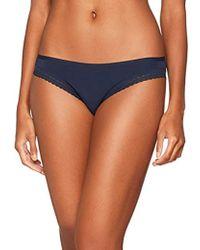 02d3a3987547a Tommy Hilfiger Crop Rp Bikini Top in Blue - Lyst