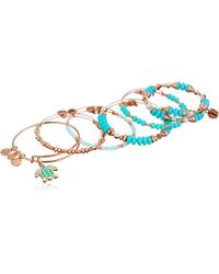 ALEX AND ANI - S Color Infusion Go With The Flow Bracelet Set Of 5 - Lyst