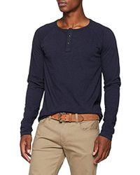 Scotch & Soda - Longsleeve Grandad Tee In Slub Jersey Quality Button Down Shirt - Lyst
