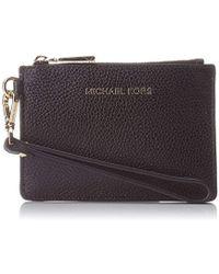 54827c53df99 Michael Kors Daniela Mushroom Leather Card Holder in Gray - Lyst