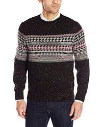 Izod - Houndstooth Chest-stripe Sweater - Lyst